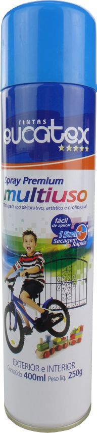 Tinta Spray Multiuso Profissional  Eucatex 400ml - Azul Claro