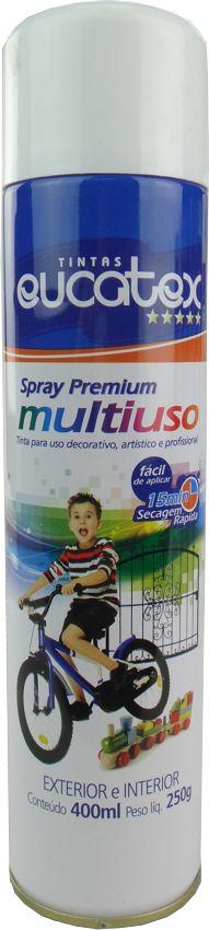Tinta Spray Multiuso Profissional Eucatex 400ml - Branco Brilhante