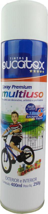 Tinta Spray Multiuso Profissional Eucatex 400ml - Branco Fosco