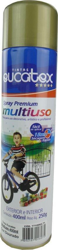 Tinta Spray Multiuso Profissional Eucatex 400ml - Dourado
