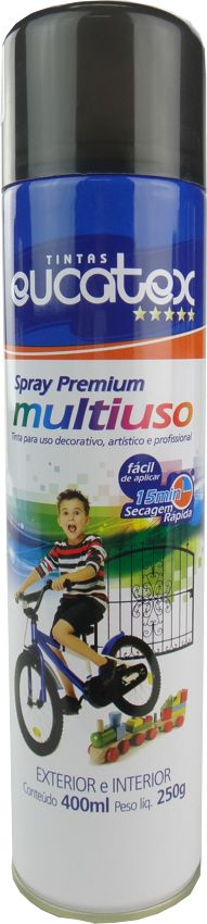 Tinta Spray Multiuso Profissional Eucatex 400ml - Grafite