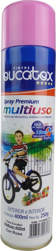 Tinta Spray Multiuso Profissional Eucatex 400ml - Rosa