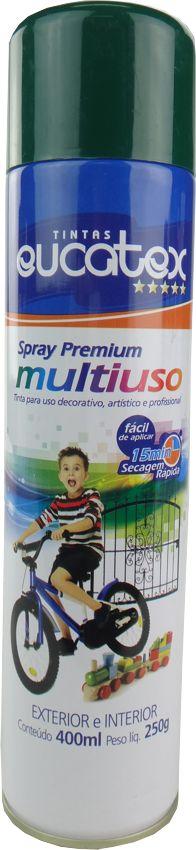 Tinta Spray Multiuso Profissional Eucatex 400ml - Verde Escuro