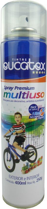 Tinta Spray Multiuso Profissional Eucatex 400ml - Verniz Brilhante