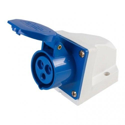 Tomada Industrial Sobrepor 2P+T 6h 16A 220-250v - Azul