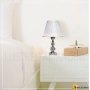 Lindo Abajur Para Quarto Ideal Leitura e ser utilizado em Mesa De Cabeceira com cúpula de Voil