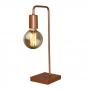 Luminária abajur em L modelo Retrô + 01 lâmpada de filamento LED modelo G80