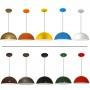 Luminaria Pendente colorido - Modelo meia bola - 30cm