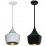 Lustre luminaria Pendente Modelo Balão preto ou Branco com Dourado