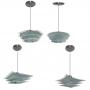 Lustre Pendente com 03 vidros para 01 lâmpada - Ideal para Sala, quarto