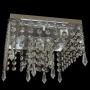Lustre Plafon Quadrado de cristal para 03 lâmpadas - 20cm x 20cm