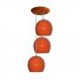 Pendente colorido (Bolinha) - 03 pendentes juntos na mesma canopla