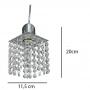 Pendente De Cristal - Para Lâmpada Comun E27