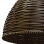 Pendente de Junco - Lustre luminaria modelo Meia Bola