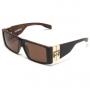 Óculos Evoke Bomber WD01 Black Wood Gold Brown