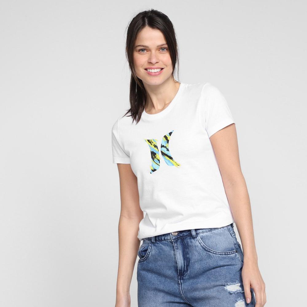 Camiseta Hurley Feminina Icon Smoke