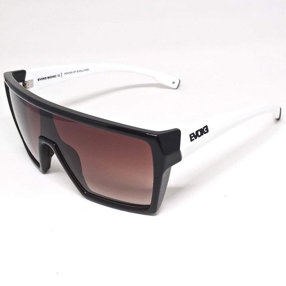 Óculos Evoke Bionic Alfa AB02 Black White Shine Brown