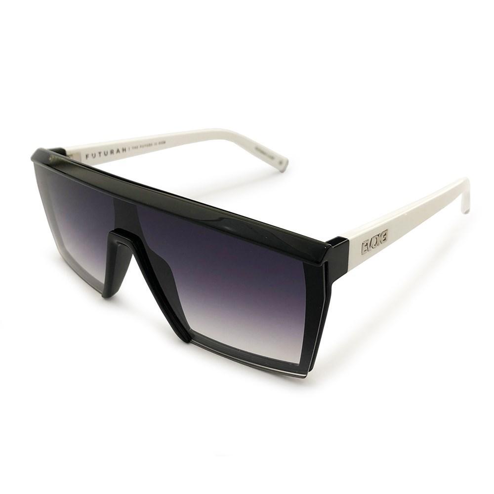Óculos Evoke Futurah A10T Black White Shine Silver