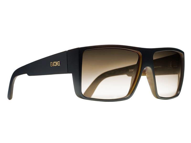 Óculos Evoke The Code WD02 Black Wood Gold Brown