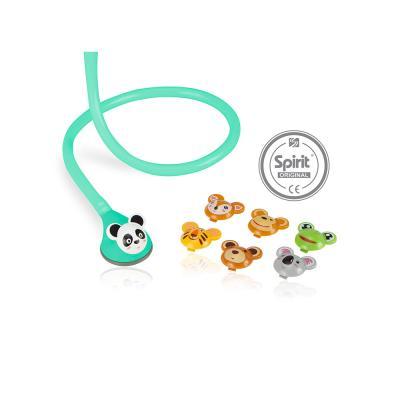 Estetoscópio Spirit Master Lite Fun Animal Pediátrico Verde