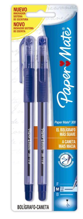 BLISTER C/2 CANETAS PAPERMATE 300  AZ / AZ