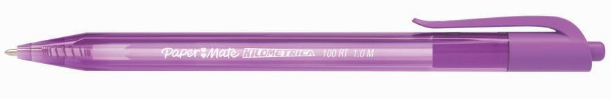 CANETA PAPERMATE KM 100 RETRATIL 10 ROXA    - CX C/12 UN