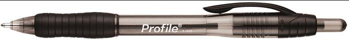 CANETA PAPERMATE PROFILE PRETO - CX C/12 UN  - CX C/12 UN