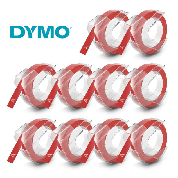 FITA VINILICA DYMO ADES 9MM X 3M BRILVERM - CX C/10 UN