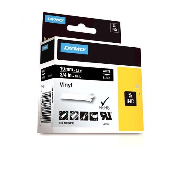 FITA VINILICA/PVC DYMO P/ROT RHINOPRO 19MM X 5,5M BRPT