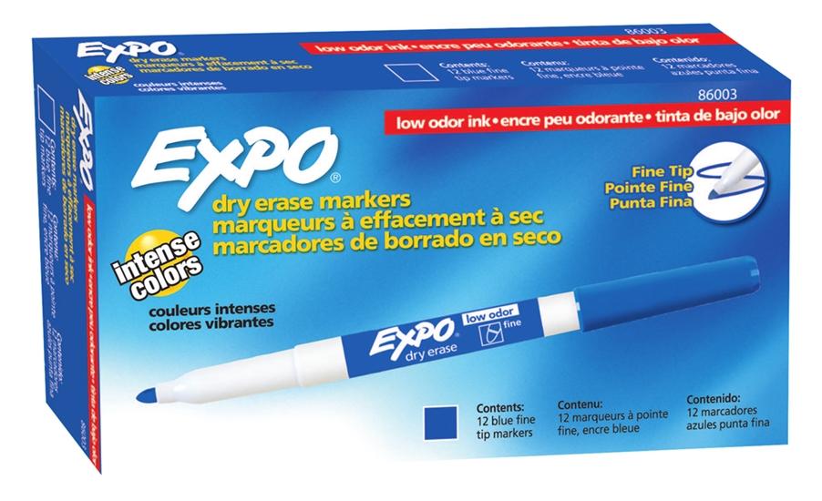 MARCADOR P/ QUADRO BRANCO SHARPIE/EXPO FINO AZUL    - CX C/12 UN