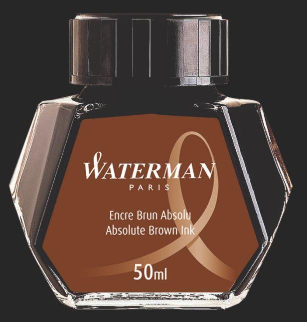 VIDRO DE TINTA WATERMAN MARROM HAVANNA