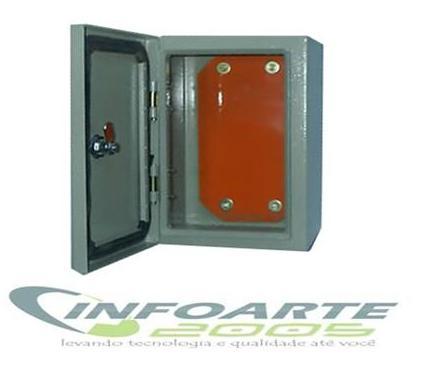 Caixa Hermética em METAL 50x50x20+ Cooler  - infoarte2005