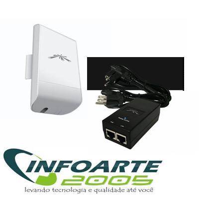 Nanostation Loco M5 Airmax 5.8ghz Antena 13dbi + Fonte + Poe
