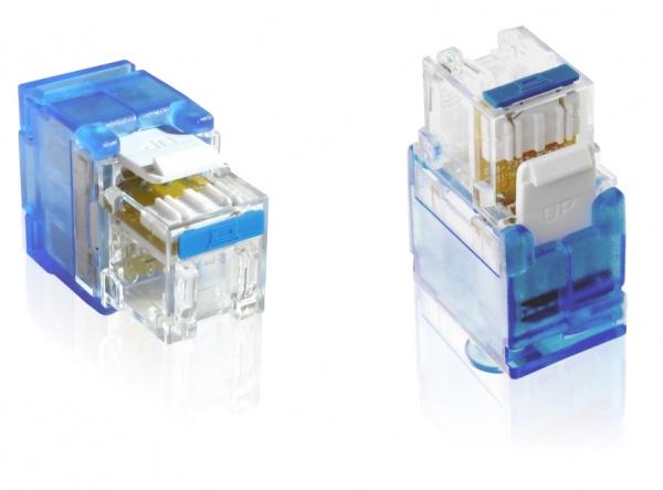 Keystone Jack Rj45 Cat6 Conector azul  - infoarte2005