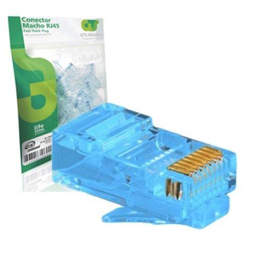 Conector Rj45 Gts Network Azul 20 Unidades  - infoarte2005