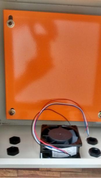 Caixa Hermética Quadro De Comando Metal 50x40x25+ Cooler  - infoarte2005