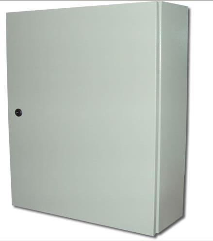 Caixa Hermética Quadro De Comando Metal 50x40x25 sem cooler com chave yale  - infoarte2005