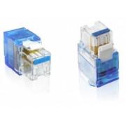 Keystone Jack Rj45 Cat6 Conector azul