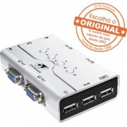 Kvm Cpu Gts Network Switch 4 Portas C/ Audio