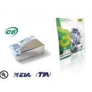 Conector Macho Rj45 Cat6 Blindado Gts Fast Track Pct 20 Pçs