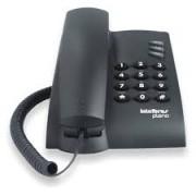 Telefone Com Fio Pleno Intelbras Preto - Para Mesa Ou Parede