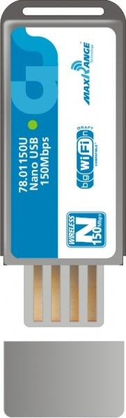 Adaptador Wireless Nano Usb 150mbps C/base Extensora  - infoarte2005