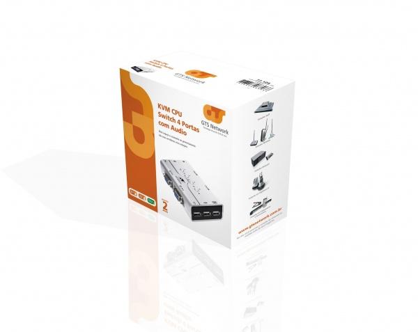 Kvm Cpu Gts Network Switch 4 Portas C/ Audio    - infoarte2005