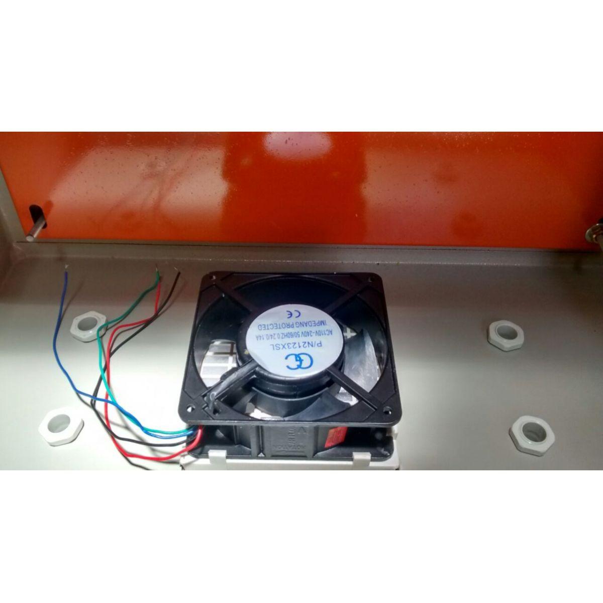 Caixa Hermética Em Aço 60x40x25 + Cooler   - infoarte2005