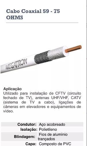 Cabo Coxial Megatron, Cftv,tv Parabolicas,100 Mts Rg 59    - infoarte2005