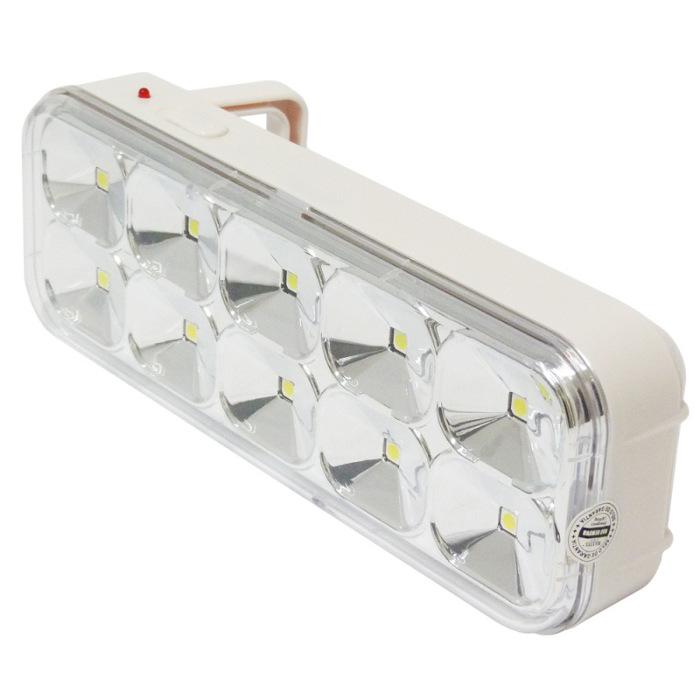 LUZ EMERGENCIA 10 SUPER LED SMD = 60 LED BIVOLT RECARREGAVEL MAXTEL  - infoarte2005