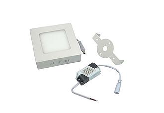 Luminaria Plafon Led 12w Sobrepor Maxtel Quadrado  MT1412AM  - infoarte2005