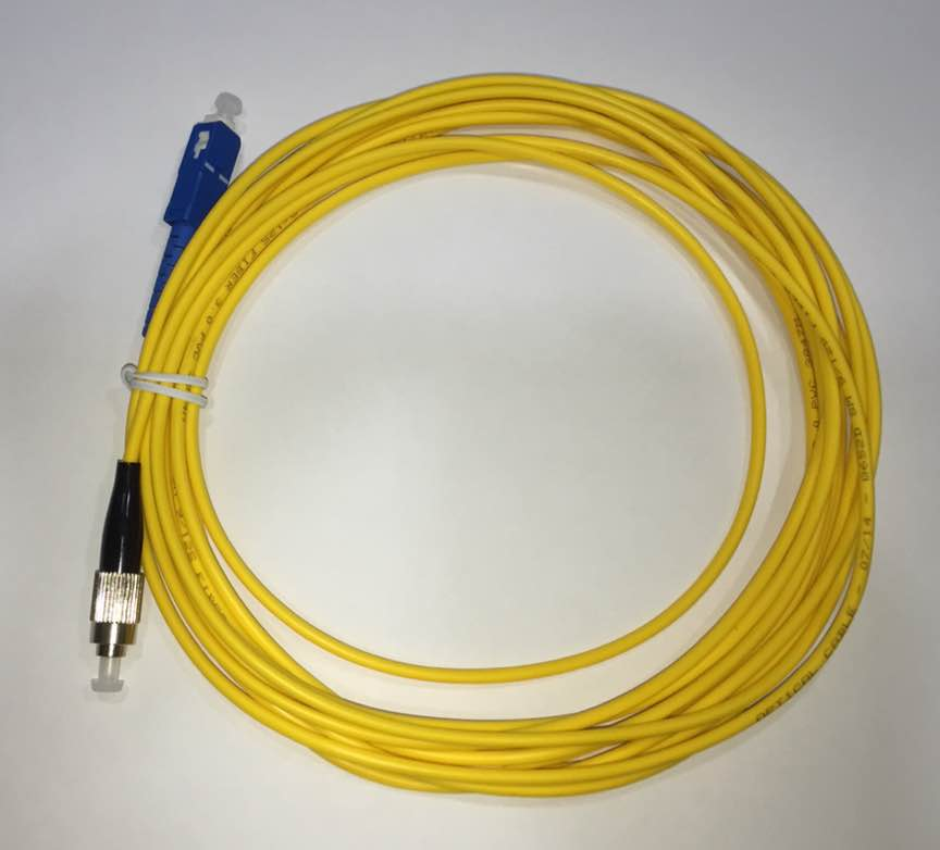 10 UNIDADES  F. Patch Cord Sc-upc Fc-upc Single Mode Simplex 3.0mm 5  cod 4081  - infoarte2005
