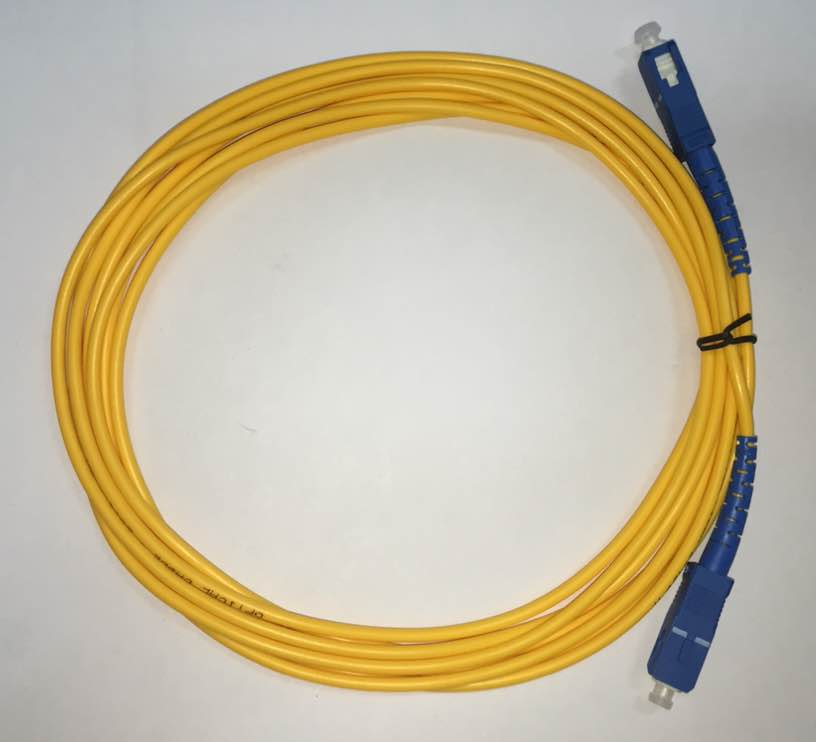 10 unidades- 4072 F. Patch Cord Sc-upc Sc-upc Single Mode Simplex 3.0mm 3