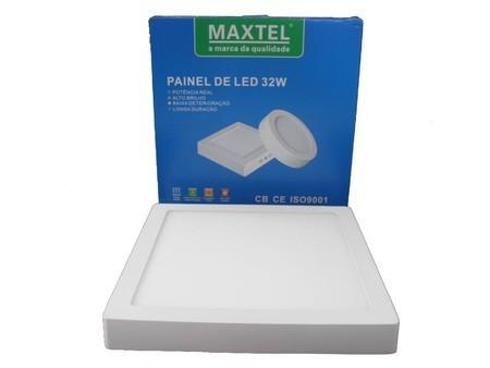 Painel Plafon Luminaria Led 32w Sobrepor Maxtel Quadrado